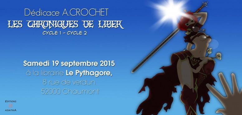 La journée dédicace d'A. CROCHET à la librairie Le Pythagore