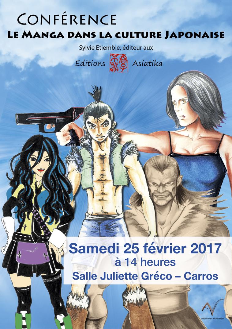 """Ville de Carros - Conférence """"Le manga dans la culture japonaise"""", 24 mars 2017"""