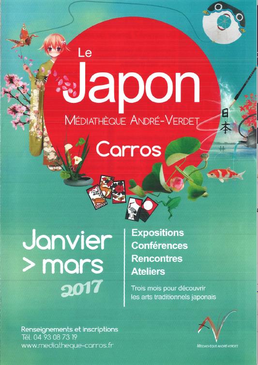 Saison culturelle japonaise à Carros du 7 janvier au 25 mars 2017