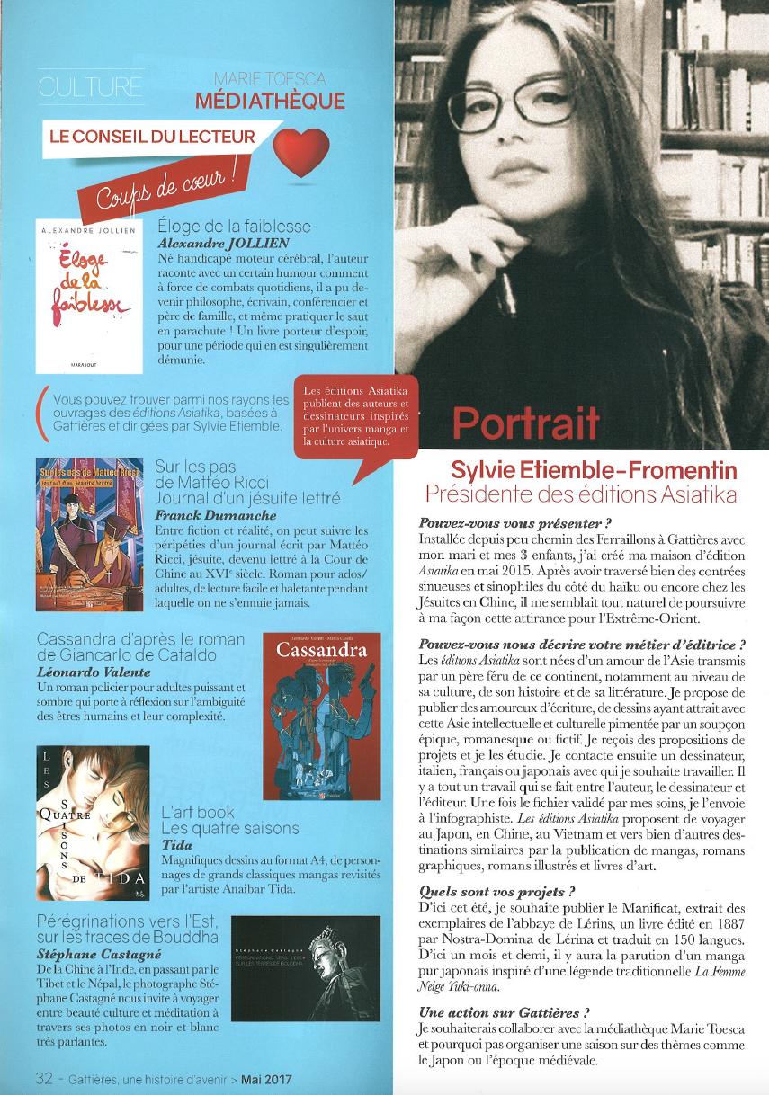 Editions Asiatika - Portrait Sylvie Gattières